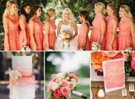 living coral wedding